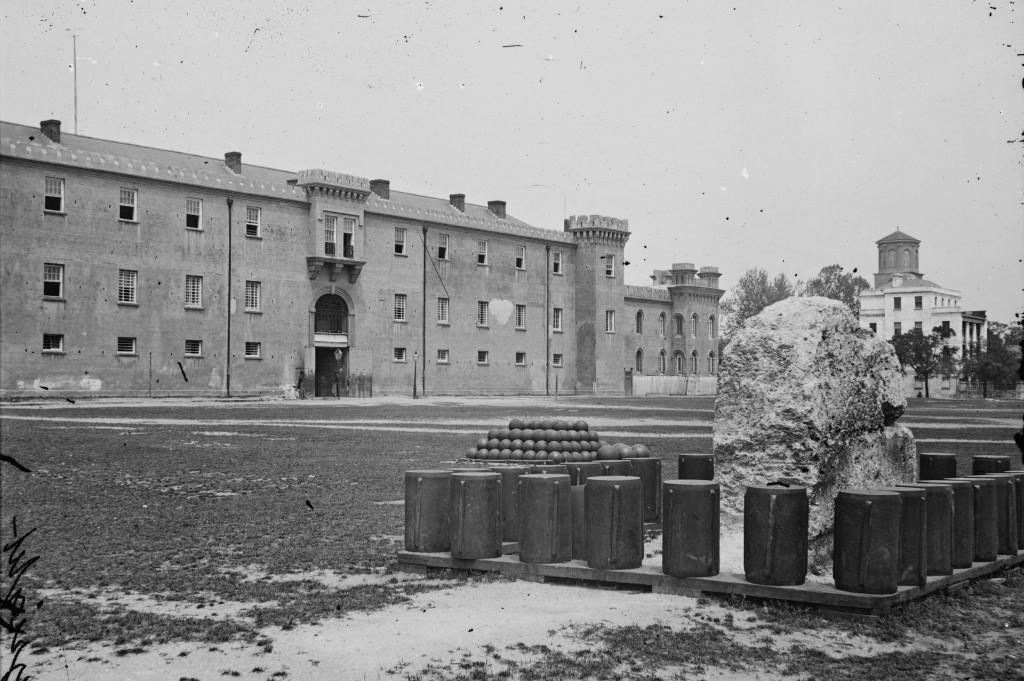 The Citadel seen across Marion Square in 1865. Source: https://www.loc.gov/item/cwp2003000826/PP/