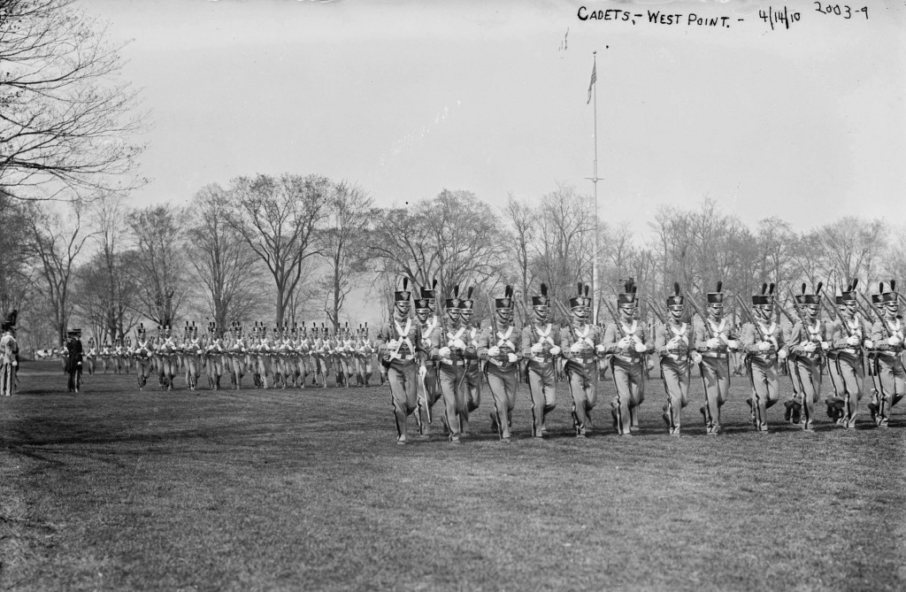 West Point Cadets marching in 1910. Source: https://www.loc.gov/item/ggb2004007929/